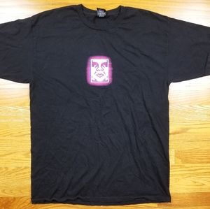 Obey Andre The Giant Box Logo Black T Shirt